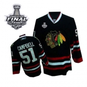 Brian Campbell Jersey Reebok Chicago Blackhawks 51 Premier Black Man With 2013  Stanley Cup Finals NHL 39e072c38