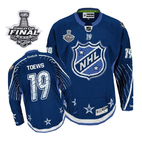 bd27258b054 Jonathan Toews Jersey Reebok Chicago Blackhawks 19 Navy Blue 2012 Premier  With 2013 Stanley Cup Finals