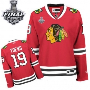 17ffa17a0 Jonathan Toews Jersey Reebok Chicago Blackhawks 19 Red Women Home Authentic  With 2013 Stanley Cup Finals