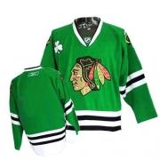 Blank Jersey Reebok Chicago Blackhawks Premier Green Man NHL Jersey