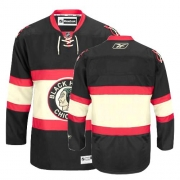 Blank Jersey Reebok Chicago Blackhawks Authentic Black New Third Man NHL Jersey