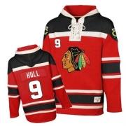 Bobby Hull Jersey Reebok Chicago Blackhawks 9 Red Sawyer Hooded Sweatshirt Premier NHL Jersey