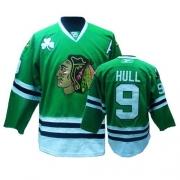 Bobby Hull Jersey Reebok Chicago Blackhawks 9 Authentic Green Man NHL Jersey