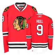 Bobby Hull Jersey Reebok Chicago Blackhawks 9 Authentic Red Home Man NHL Jersey