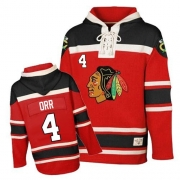 Bobby Orr Jersey Old Time Hockey Chicago Blackhawks 4 Red Sawyer Hooded Sweatshirt Authentic NHL Jersey