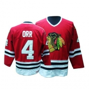 Bobby Orr Jersey CCM Chicago Blackhawks 4 Authentic Red Throwback Man NHL Jersey