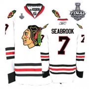 Brent Seabrook Jersey Reebok Chicago Blackhawks 7 Premier White Man With 2013 Stanley Cup Finals NHL Jersey