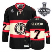 Brent Seabrook Jersey Reebok Chicago Blackhawks 7 Authentic Black New Third Man With 2013 Stanley Cup Finals NHL Jersey
