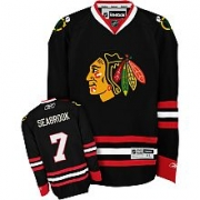 Brent Seabrook Jersey Reebok Chicago Blackhawks 7 Premier Black Man NHL Jersey