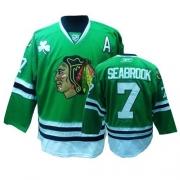 Brent Seabrook Jersey Reebok Chicago Blackhawks 7 Premier Green Man NHL Jersey