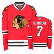 Brent Seabrook Jersey Reebok Chicago Blackhawks 7 Premier Red Home Man NHL Jersey