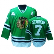 Brent Seabrook Jersey Reebok Chicago Blackhawks 7 Authentic Green Man NHL Jersey