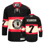 Brent Seabrook Jersey Reebok Chicago Blackhawks 7 Authentic Black New Third Man NHL Jersey