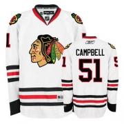 Brian Campbell Jersey Reebok Chicago Blackhawks 51 Premier White Man NHL Jersey