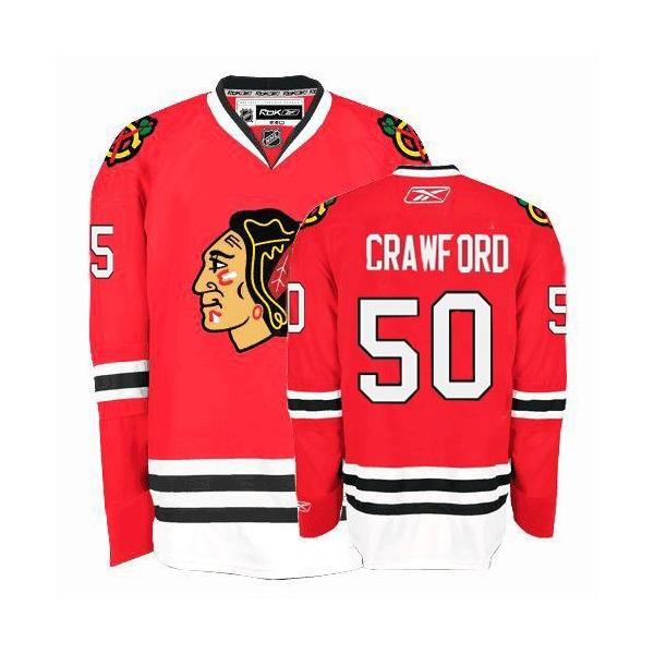 the latest 431ca f0298 Corey Crawford Jersey Reebok Chicago Blackhawks 50 Red ...