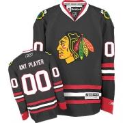 Customized Jersey Reebok Chicago Blackhawks Black Third Authentic Man NHL Jersey