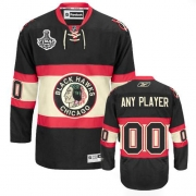 Customized Jersey Reebok Chicago Blackhawks Black New Third Authentic Man NHL Jersey