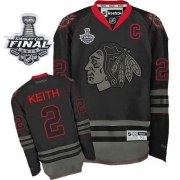 Duncan Keith Jersey Reebok Chicago Blackhawks 2 Black Ice Authentic With 2013 Stanley Cup Finals NHL Jersey