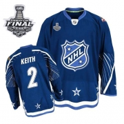 Duncan Keith Jersey Reebok Chicago Blackhawks 2 Authentic Dark Blue With 2013 Stanley Cup Finals NHL Jersey