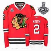 Duncan Keith Jersey Youth Reebok Chicago Blackhawks 2 Premier Red Home With 2013 Stanley Cup Finals NHL Jersey