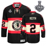 Duncan Keith Jersey Youth Reebok Chicago Blackhawks 2 Premier Black New Third With 2013 Stanley Cup Finals NHL Jersey