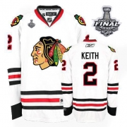 Duncan Keith Jersey Reebok Chicago Blackhawks 2 Authentic White Man With 2013 Stanley Cup Finals NHL Jersey