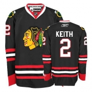 Duncan Keith Jersey Youth Reebok Chicago Blackhawks 2 Authentic Black NHL Jersey