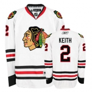 Duncan Keith Jersey Youth Reebok Chicago Blackhawks 2 Premier White NHL Jersey