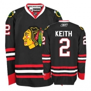 Duncan Keith Jersey Reebok Chicago Blackhawks 2 Premier Black Man NHL Jersey