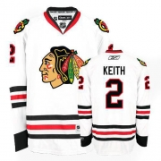 Duncan Keith Jersey Reebok Chicago Blackhawks 2 Premier White Man NHL Jersey