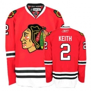 Duncan Keith Jersey Reebok Chicago Blackhawks 2 Premier Red Home Man NHL Jersey