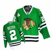 Duncan Keith Jersey Reebok Chicago Blackhawks 2 Authentic Green Man NHL Jersey