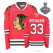 Dustin Byfuglien Jersey Youth Reebok Chicago Blackhawks 33 Premier Red Home With 2013 Stanley Cup Finals NHL Jersey