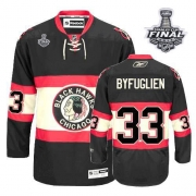 Dustin Byfuglien Jersey Youth Reebok Chicago Blackhawks 33 Premier Black New Third With 2013 Stanley Cup Finals NHL Jersey