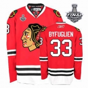 Dustin Byfuglien Jersey Reebok Chicago Blackhawks 33 Premier Red Home Man With 2013 Stanley Cup Finals NHL Jersey
