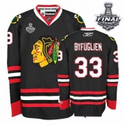 Dustin Byfuglien Jersey Reebok Chicago Blackhawks 33 Authentic Black Man With 2013 Stanley Cup Finals NHL Jersey
