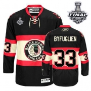 Dustin Byfuglien Jersey Reebok Chicago Blackhawks 33 Authentic Black New Third Man With 2013 Stanley Cup Finals NHL Jersey