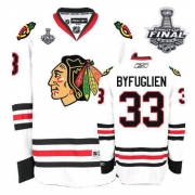 Dustin Byfuglien Jersey Reebok Chicago Blackhawks 33 Authentic White Man With 2013 Stanley Cup Finals NHL Jersey