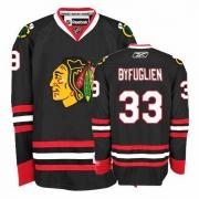 Dustin Byfuglien Jersey Reebok Chicago Blackhawks 33 Premier Black Man NHL Jersey