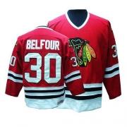 ED Belfour Jersey CCM Chicago Blackhawks 30 Premier Red Throwback Man NHL Jersey