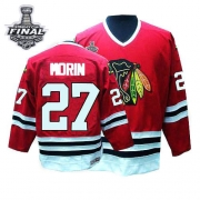 Jeremy Morin Jersey CCM Chicago Blackhawks 27 Red Throwback Authentic With 2013 Stanley Cup Finals NHL Jersey