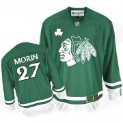 Jeremy Morin Jersey Reebok Chicago Blackhawks 27 Premier Green St Pattys Day Man NHL Jersey