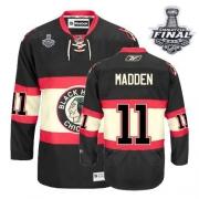 John Madden Jersey Reebok Chicago Blackhawks 11 Premier Black New Third Man With 2013 Stanley Cup Finals NHL Jersey