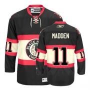 John Madden Jersey Reebok Chicago Blackhawks 11 Premier Black New Third Man NHL Jersey