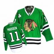 John Madden Jersey Reebok Chicago Blackhawks 11 Premier Green Man NHL Jersey