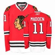 John Madden Jersey Reebok Chicago Blackhawks 11 Authentic Red Home Man NHL Jersey