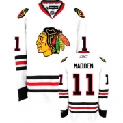 John Madden Jersey Reebok Chicago Blackhawks 11 Authentic White Man NHL Jersey
