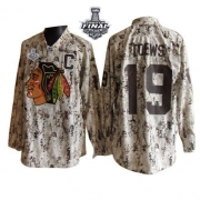 Jonathan Toews Jersey Reebok Chicago Blackhawks 19 Camouflage Premier With 2013 Stanley Cup Finals NHL Jersey