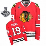 Jonathan Toews Jersey Youth Reebok Chicago Blackhawks 19 Premier Red Home With 2013 Stanley Cup Finals NHL Jersey