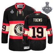 Jonathan Toews Jersey Youth Reebok Chicago Blackhawks 19 Premier Black New Third With 2013 Stanley Cup Finals NHL Jersey